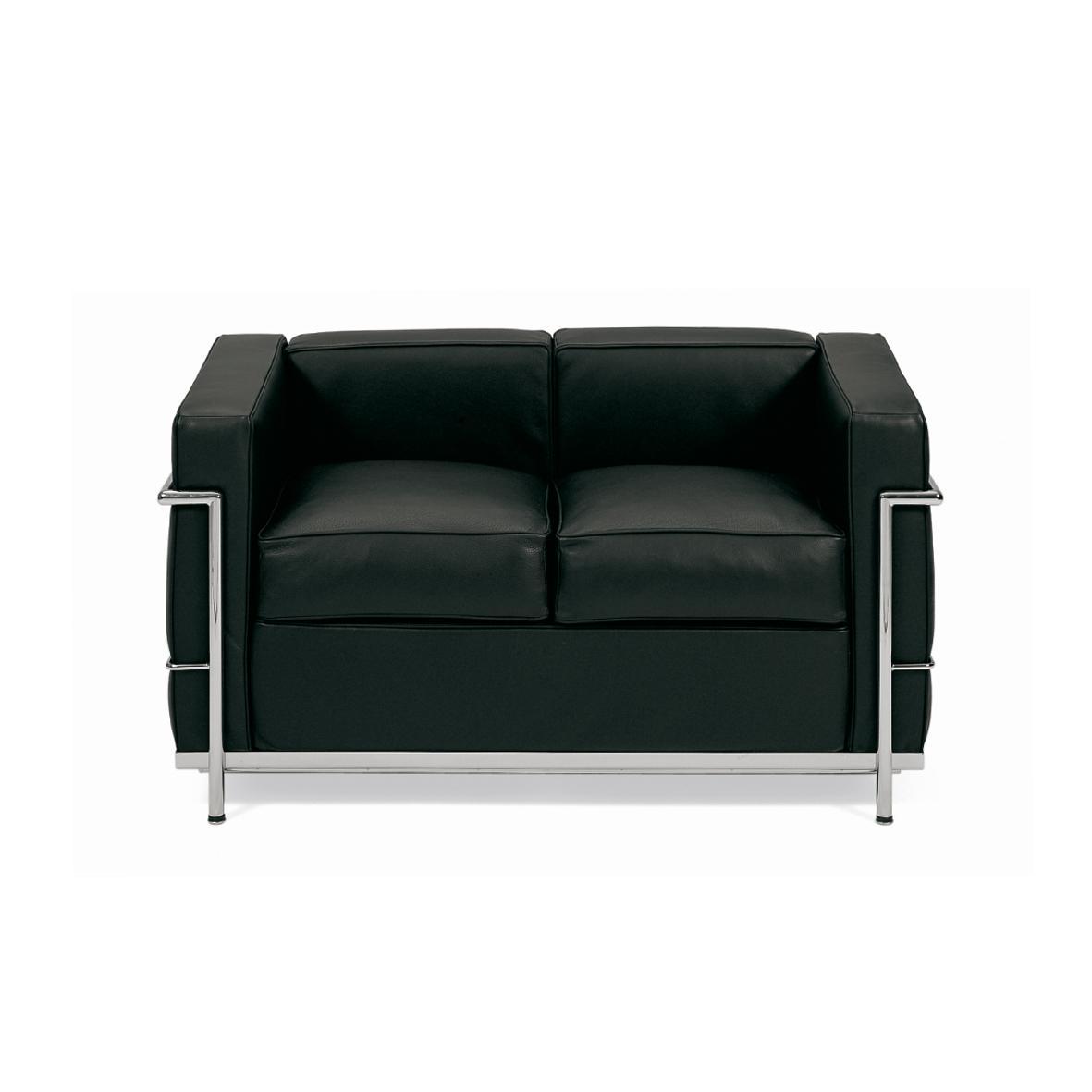 LUX100/2 Le Corbusier - Divano 2 posti con cuscini im - @posar2015...